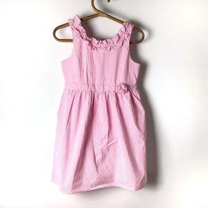 Lilly Pulitzer Pink Seersucker Girls Dress Size 14